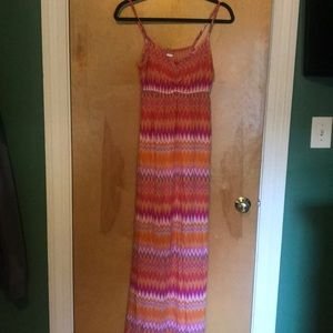 Final price Pink and orange maxi dress
